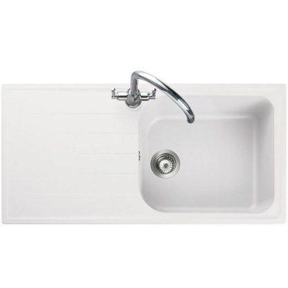 Amethyst Granite Inset Sink White