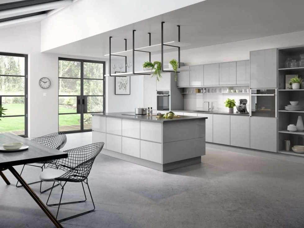 Kassel Gloss Light Grey Kitchen