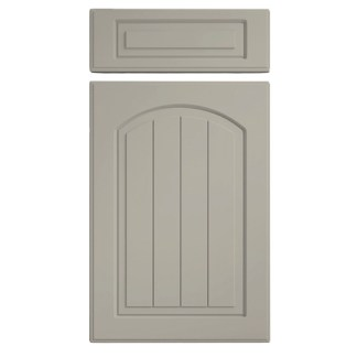 Saxon Arch Cupboard Doors Pebble
