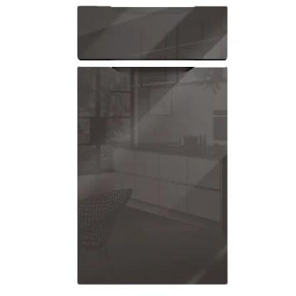 Neptune Handleless Cabinet Doors Gloss Graphite