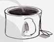 Cup logo for career coach & serial blogger, Ronnie Ann.