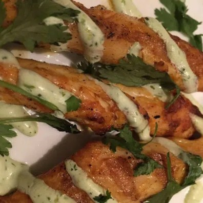 GrIlled Chipotle-spiced Chicken Skewers