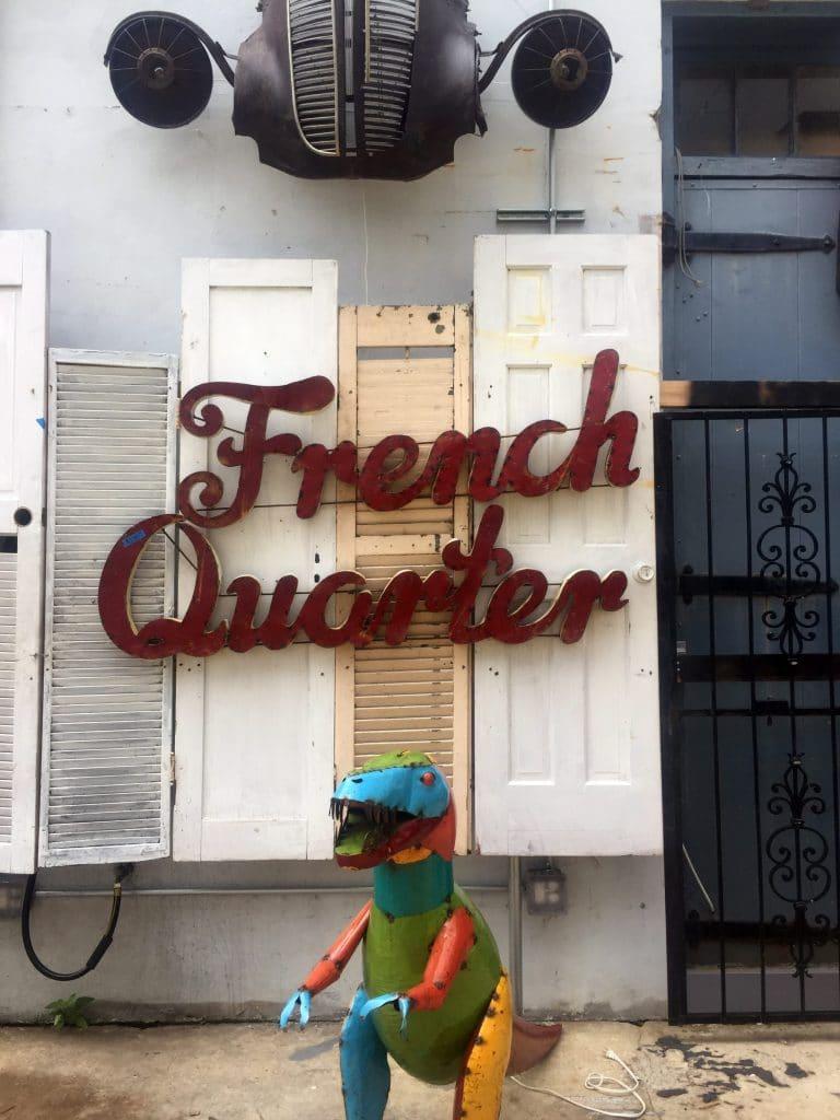 French Quarter sign