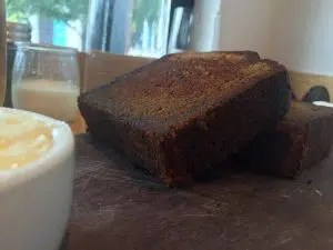Griddled banana bread from