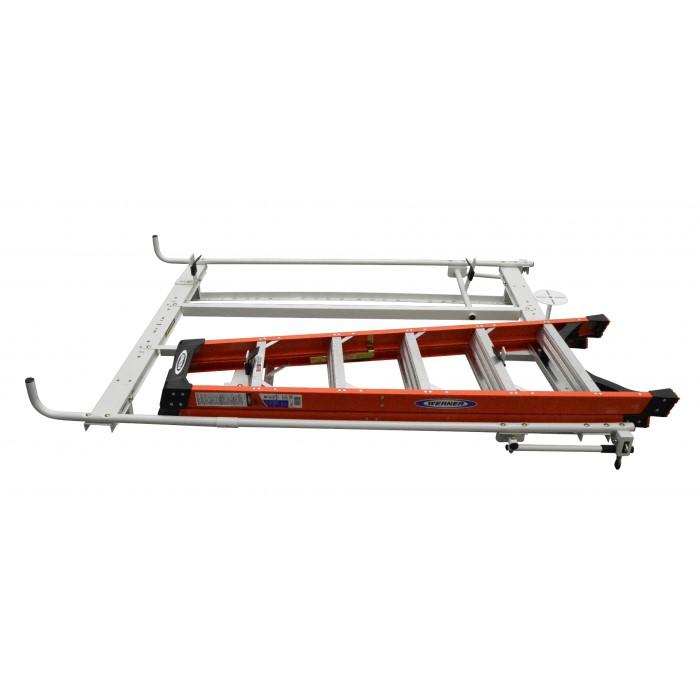 6 ft step ladder bracket support for kargo master a series clamp and lock ladder rack