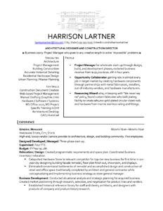 sample architect resume architect cover letter resume design