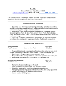 resume format resume examples nuclear tech power plant