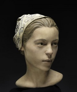 A reconstruction of 'Jane''s face, on display at the Smithsonian from 3 May 2013.  Image: Don Hurlbert, Smithsonian