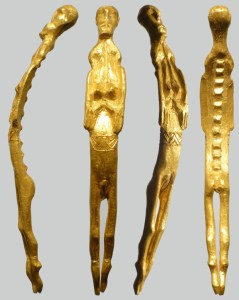 Gold female figurinesmall