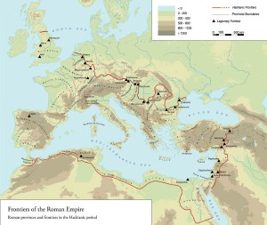 Part of the Culture 2000 Frontiers of the Roman Empire project was to produce a correct map of the Roman Empire in the 2nd century. This, together with copies of the multi-language books on Roman frontiers and various maps, is available online from www.museen-mainlimes.de/content/6-media/pdfs.en.php