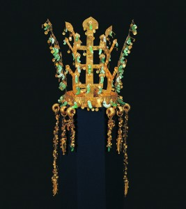 Gold and Jade crown from Silla, Korea
