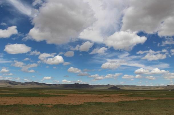 Empty Mongolia landscape