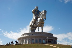 This gigantic stainless-steel statue of Chinggis Khan was unveiled in 2008 on the river Tuul. Since gaining independence from the Soviet Union, Mongolia has reinstated Khan as a symbol of their nationhood.