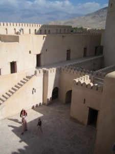 The fort at Nizwa dates from the 17th century. It is one of the largest and best preserved in the country.