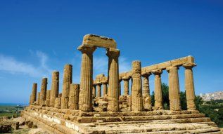 The Temple of Hera (5th century BC) was restored back in Roman times.