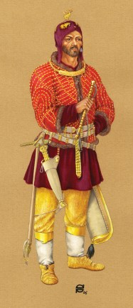 Reconstruction of 'royal' male dress based on excavated finds from Arzhan-2.