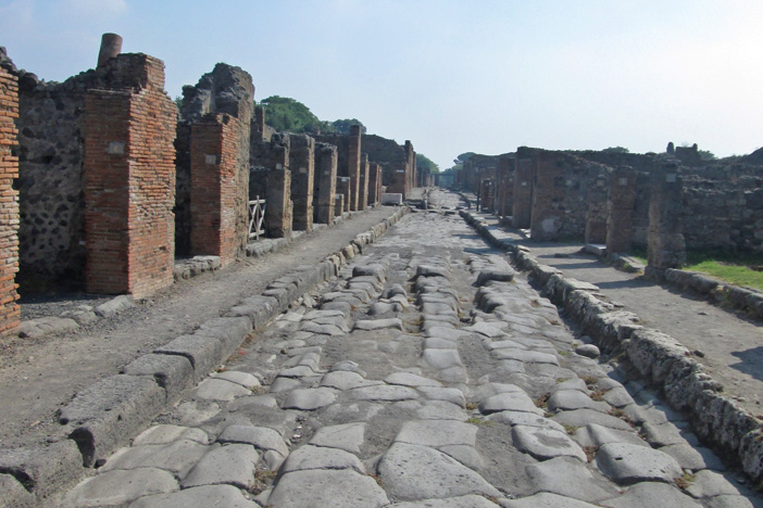 Driving the streets of Pompeii