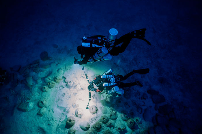 Excavating a Phoenician shipwreck off the coast of Gozo, Malta