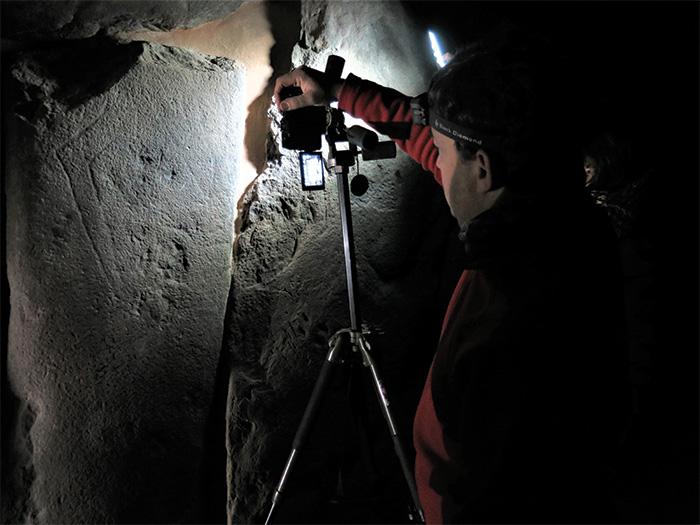 Archaeologist uses light to study rock art
