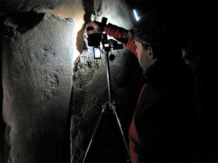 Archaeologist uses light to study rock art
