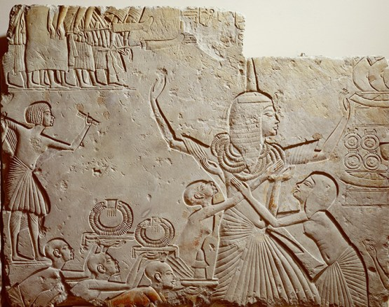 A relief carving on stone