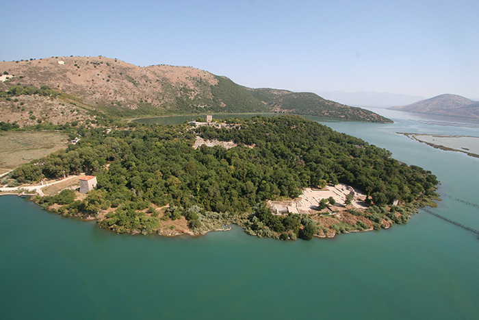An aerial photograph of Butrint