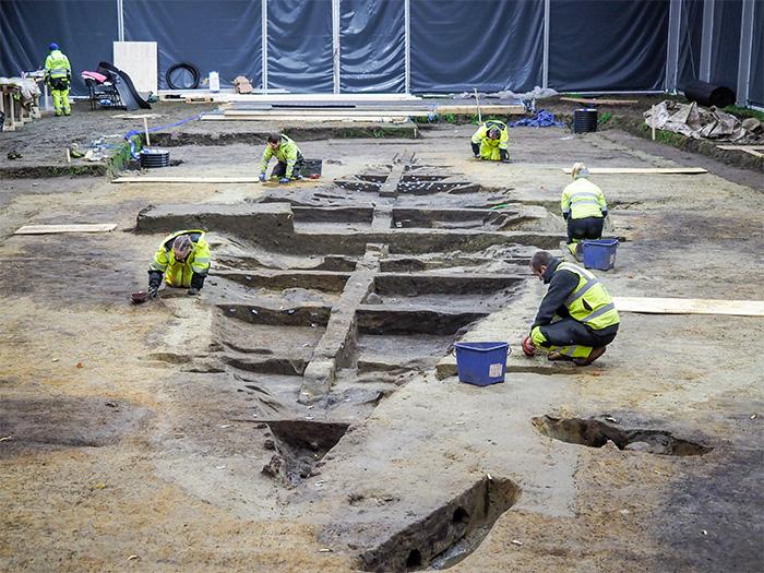The excavation of the Gjellestad ship burial