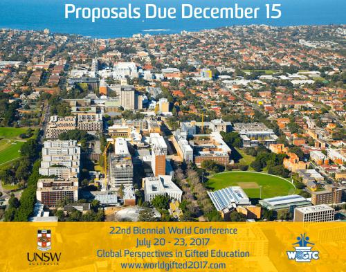 Proposal Deadline December 15, 2017