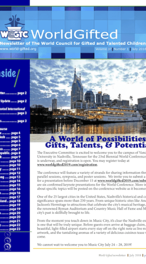 World Gifted Newsletter 37(1)