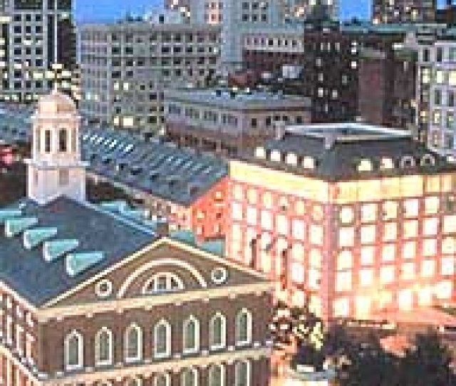 Photo Of Boston City Center At Night