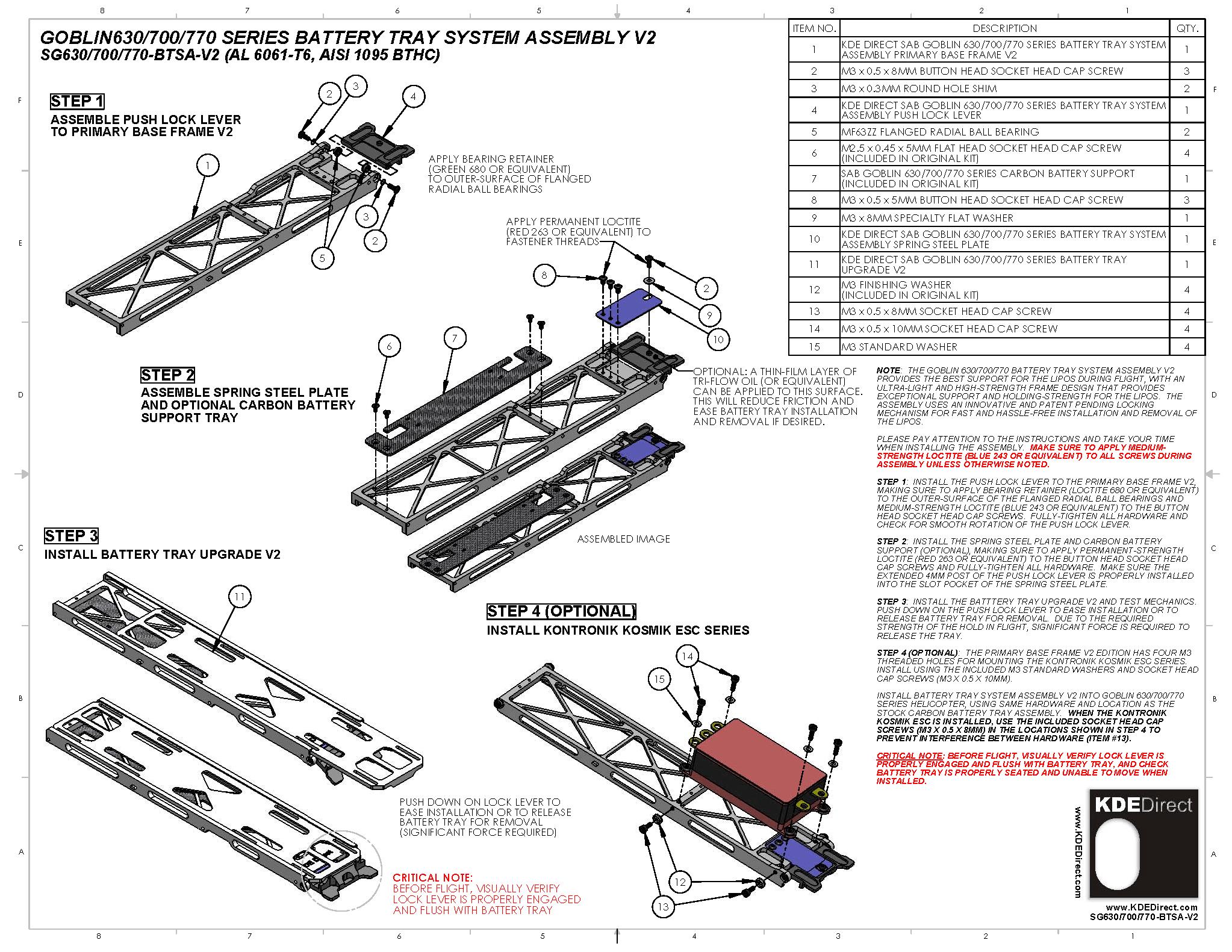 Kde Direct Battery Tray System V2