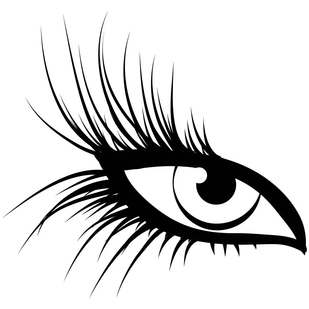 Large Eye Lashes Wall Sticker Decal