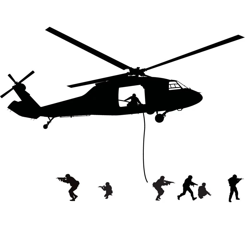 Army Helicopter Pickup Military Wall Sticker Decal