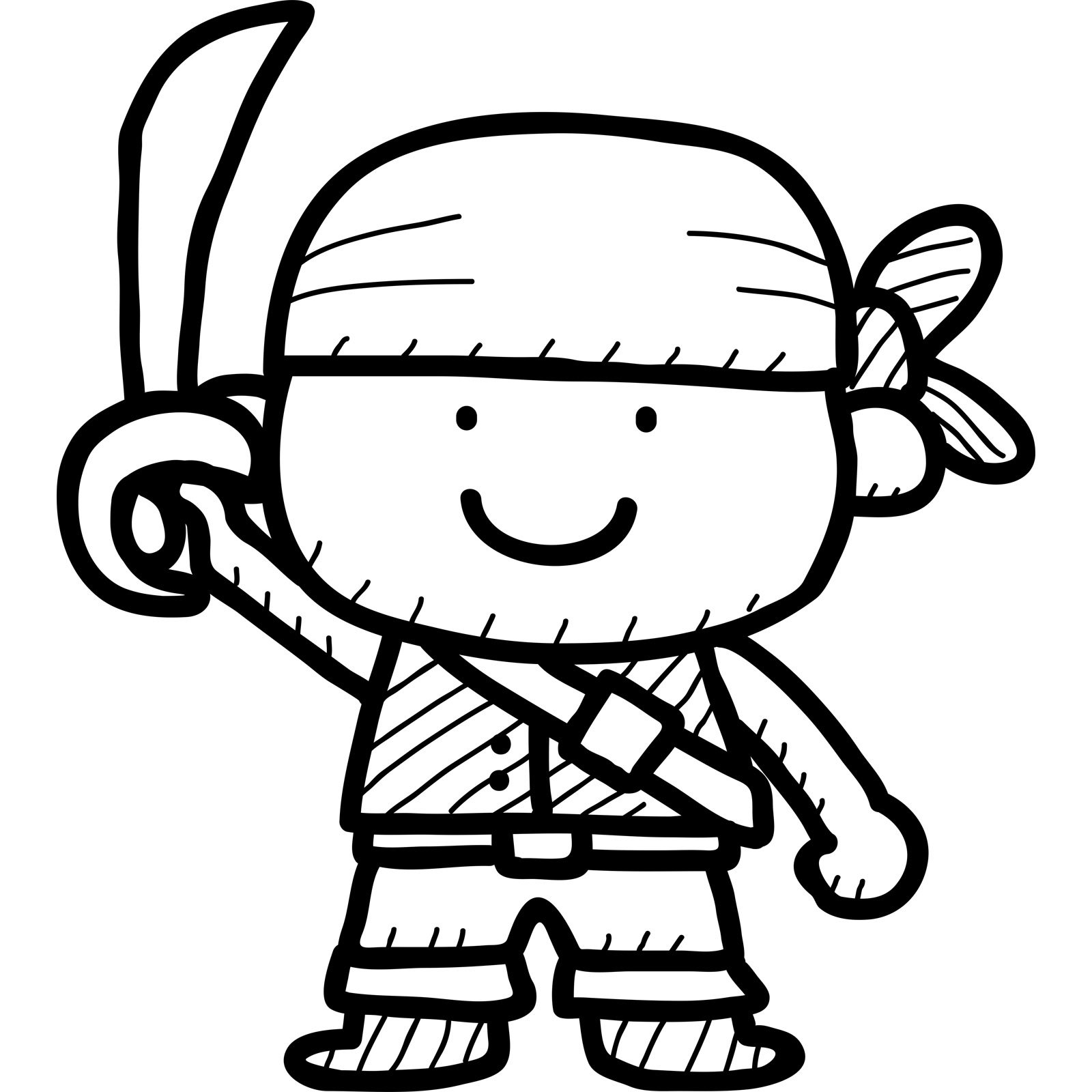 Cartoon Pirate Kids Wall Sticker
