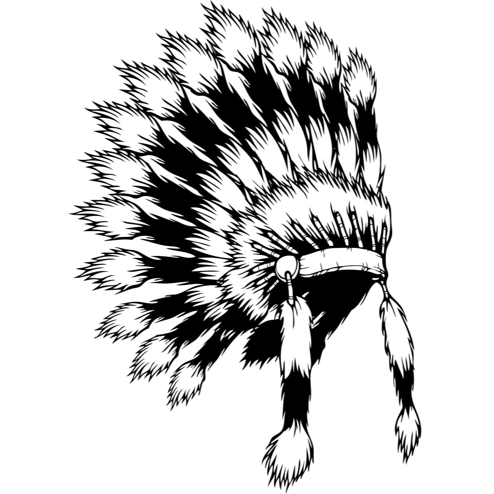 Indian Feather Headdress Coloring Pages