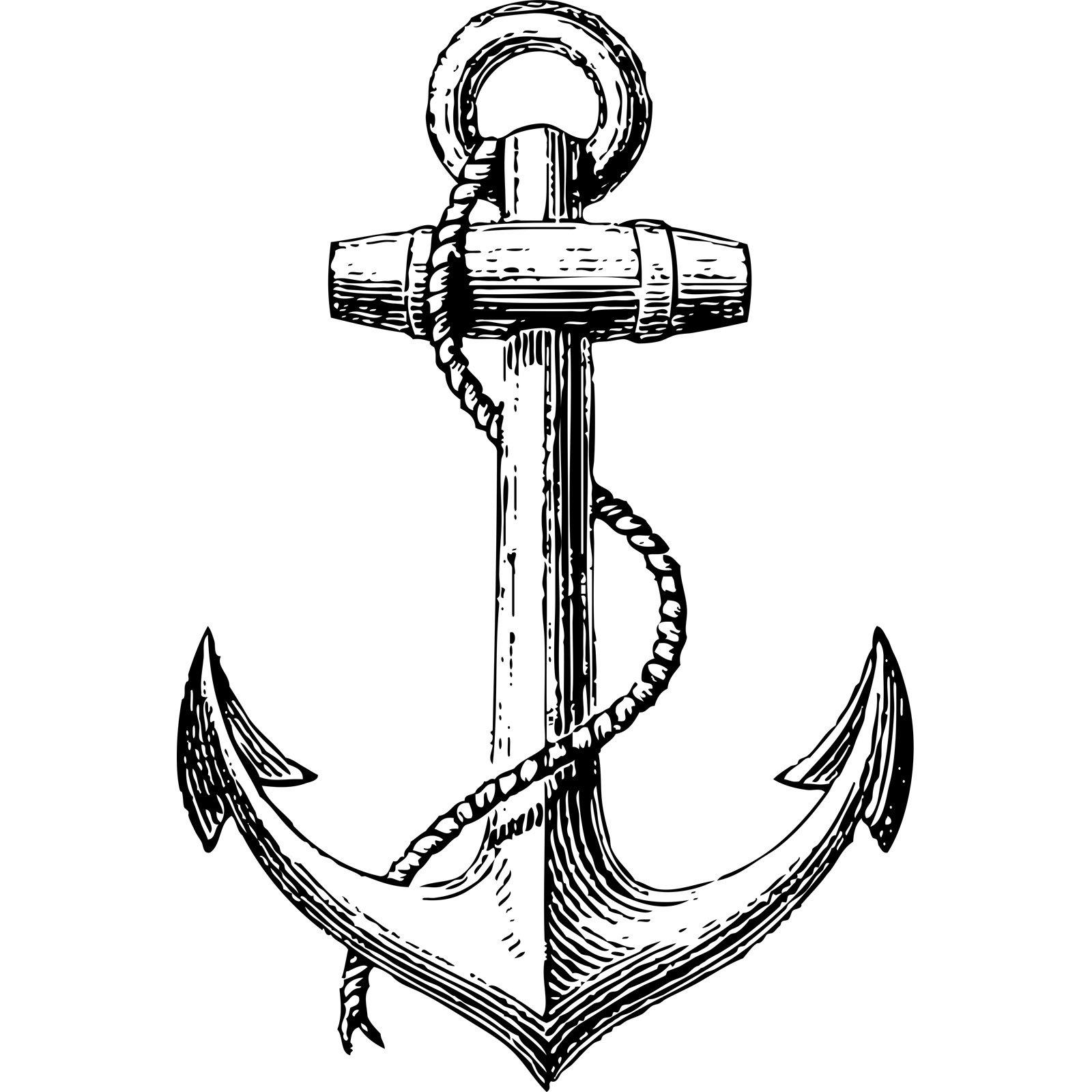 Vintage Anchor Nautical Wall Sticker