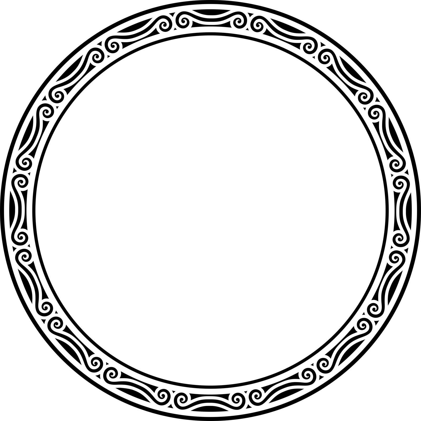 Circular Frame Wall Sticker Decal