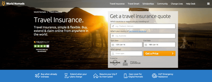 World Nomads has the best travel insurance out there.