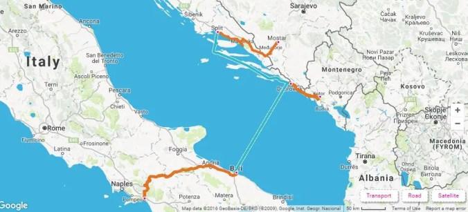 Old Balkan Itinerary