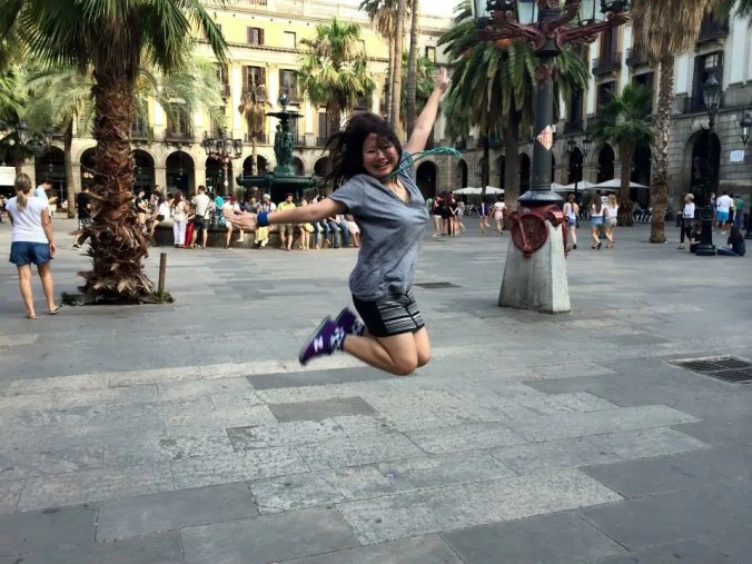 Dancer Alaine Handa in Barcelona