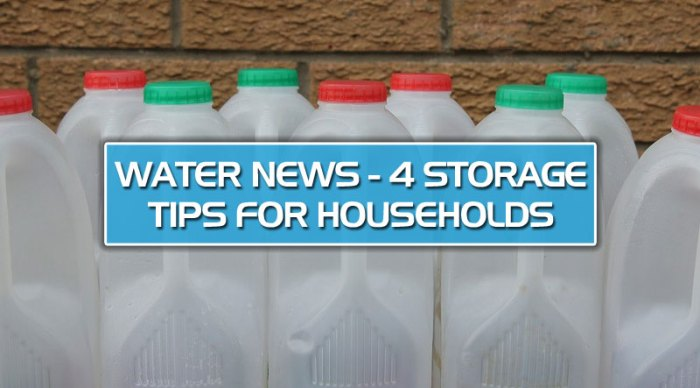featured9 - Water News – 4 storage tips for households