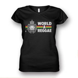 LAdies V Neck World A reggae
