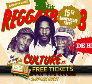 2x 2 Free Tickets to the 15th Reggaebomb Anniversary