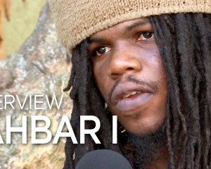 """DJ 745 speaks with Jahbar I Miller about his musical roots and album """"Jahbar I Dehya"""" at Anchor Studios, Kingston Jamaica. February 2019"""