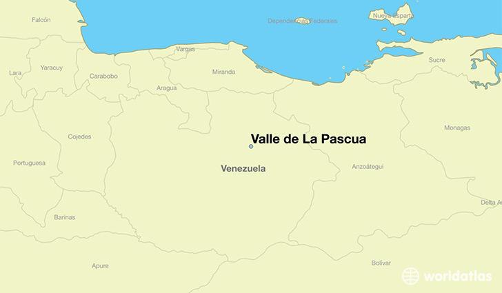 Where Is Valle De La Pascua Venezuela Valle De La