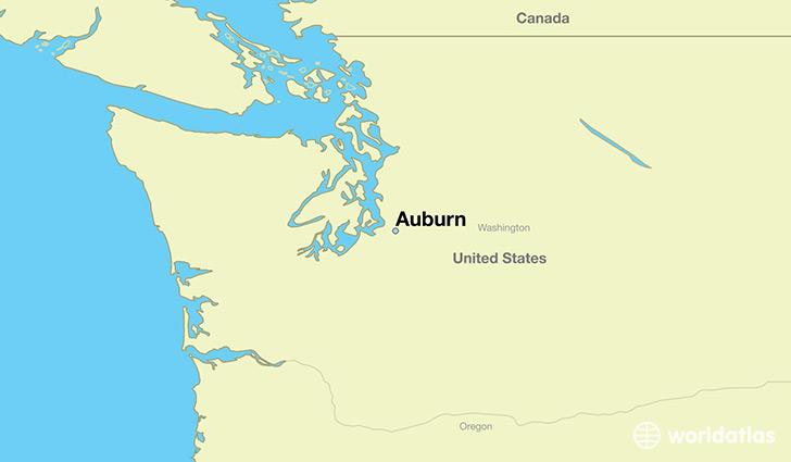 Where Is Auburn Wa Auburn Washington Map