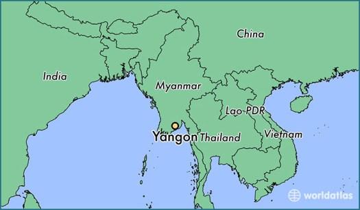 Where is Yangon, Myanmar? / Yangon, Yangon Map ...