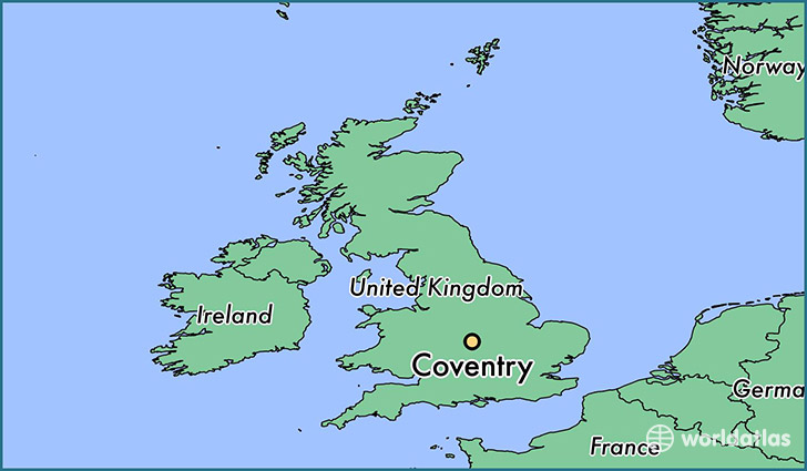 Image result for coventry map england