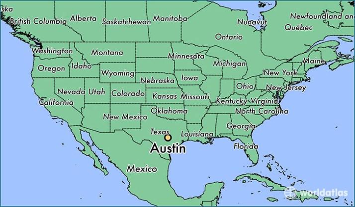 Resultado de imagen para austin texas in a map
