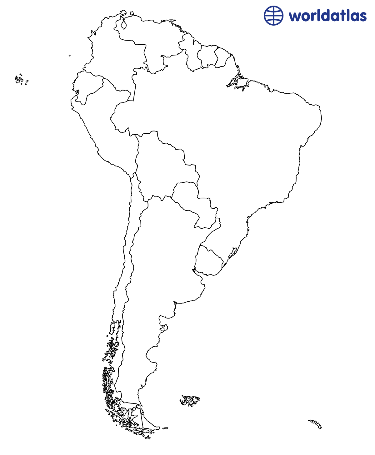 Sly Printable Maps Of South America